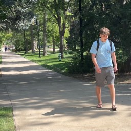 Man Early to Class Forced to Make Meaningless, Awkward Lap Around Norlin Quad
